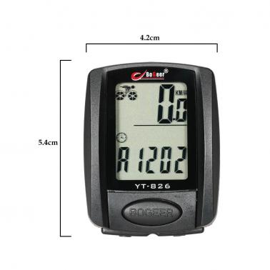 Bike Bicycle Cycling Computer Odometer Speedometer Stopwatch Thermometer Backlight Rainproof Multifunction
