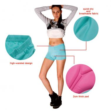 High-waisted Women Bicycle Cycling Underwear Gel 3D Padded Bike Short Pants