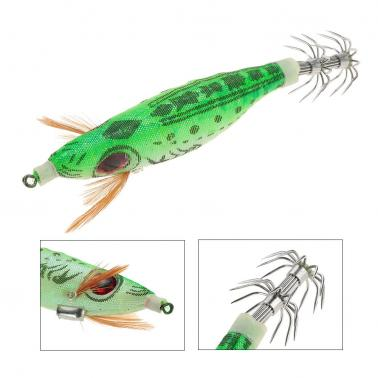 9g/10cm Outdoor Hard Fishing Bait Cloth Wrapped PVC Shrimp Prawn Fishing Baits Noctilucent Squid Fshing Lure Jig Hooks C