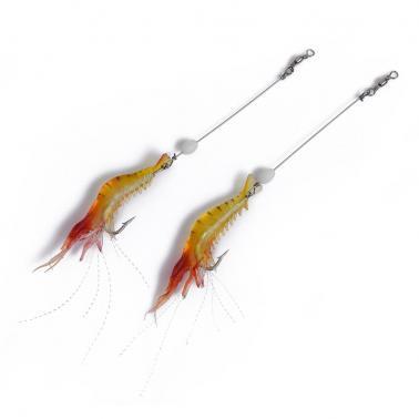 Soft Bait Biomimetic Fishing Lure Bionic Shrimp Lure Bait with Luminous Bead Fishing Tool