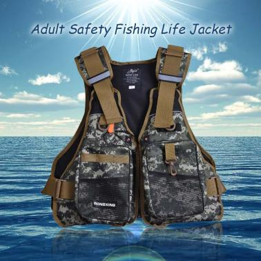 Professional Flotation Adult Safety Life Jacket Survival Vest Swimming Kayaking Boating Drifting with Emergency Whistle