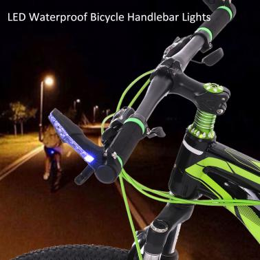LED Waterproof Bicycle Bike Handlebar Bar End Lights Warning Light Lamp MTB Racing Riding Cycling Bar Lights Reflective