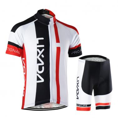 Men Breathable Quick Dry Comfortable Short Sleeve Jersey + Padded Shorts Cycling Clothing Set Riding Sportswear