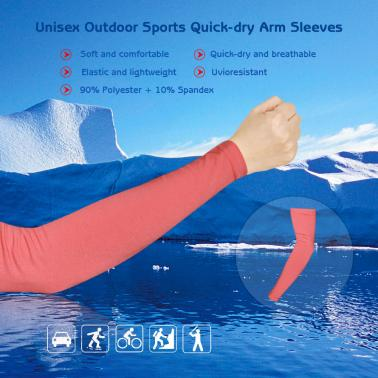 Unisex Outdoor Sports Quick-dry Breathable Arm Sleeves Sun-resistant Arm Protective Sleeves for Bicycle Cycling & Runnin