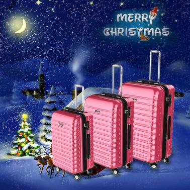 "3PCS Luggage Set Carry-on Suitcase ABS+PC Hard Shell Trolley 22""+26""+30"" TSA Lock Universal Wheels"