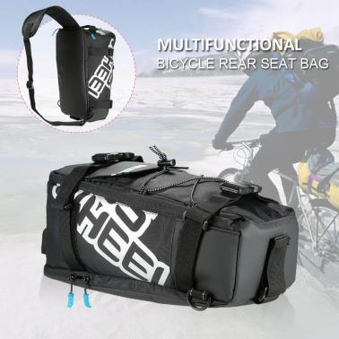 Multifunctional Cycling Bicycle Bike Rear Seat Trunk Bag Outdoor Sports Pouch Rack Panniers Shoulder Handbag