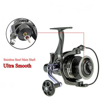 11+1BB Ball Bearings 4:7:1 Ultra Smooth Spinning Fishing Reel Right/Left Interchangeable Fishing Reel for Freshwater Sal