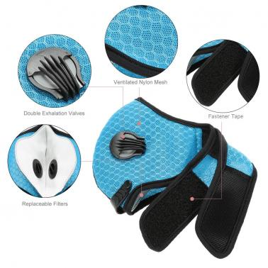 Outdoor Cycling Anti-dust Half Face Mask Dust Mask with Filter