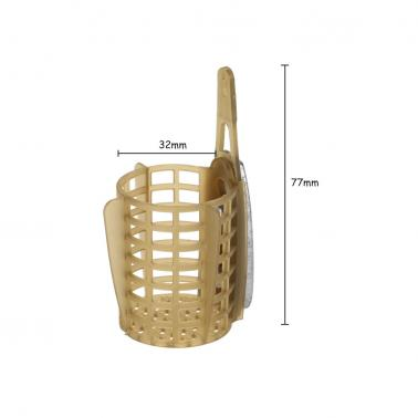 Carp Fishing Feeder Bait Cage Lure Holder Basket Cage Fishing Trap Fishing Accessory with Lead Sinker 30g/40g/50g/60g/70