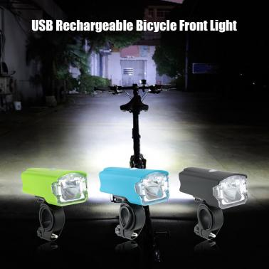 220LM Bicycle Front Light 1200mAh USB Rechargeable Bicycle LED Headlight Cycling Bike Light Flashlight Lamp Torch
