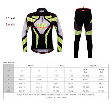 WOSAWE® Quick Dry Breathable Bike Bicycle Mountain Biking Unisex Cycling Jersey Pants Tights Clothing Sets Suits Long Sl