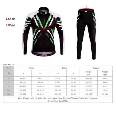 WOSAWE® Quick-dry Stretchy Unisex Mountain Biking Cycling Long Sleeve Jersey Pants Bicycle Tights Clothing Sets Suits Ou