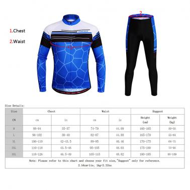 WOSAWE® Unisex Breathable Quick-dry Cycling Full-zip Long Sleeve Jersey Pants Cycling Mountain Biking Long Sleeve Bicycl