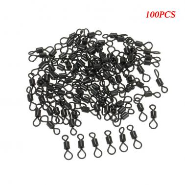 100Pcs Fishing Swivels Rolling Swivels Sea Fishing Accessories Connector Rolling Swivels Ball Bearing Solid Rings
