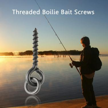 100Pcs Threaded Boilie Bait Screws for Carp Hair Rigs Hooks Carp Fishing Terminal Tackle