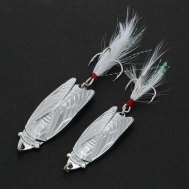Fishing Cicada Bait Sequins Shell Spoon Lures Paillette Metal Fishing Lures