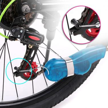 Bike Chain Cleaning Tool Scrubber Brushes Cycling Bicycle Chain Cleaner Cleaning Brush Washer Tool Set Kit