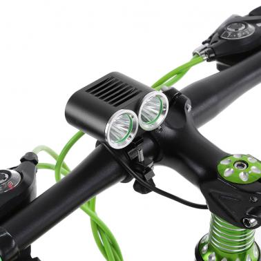 Front Handlebar USB Bike Light 2400 Lumens Powerful Super Bright LED Cycling Safety Flashlight Double Lights Bicycle Lig