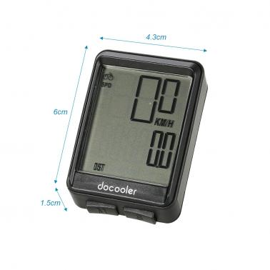 Docooler Bike Computer Wireless Bicycle Speedometer Odometer Temperature Cycling Riding Multi Function