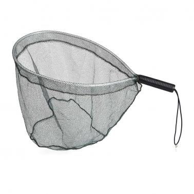 Fly Fishing Brail Landing Net Portable Lightweight Aluminum Landing Fishing Net Catch and Release Net Nylon Mesh