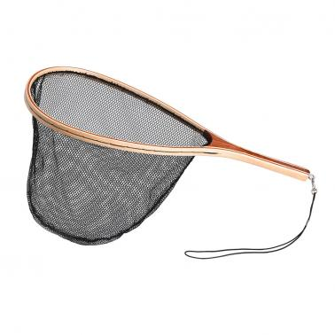 Fly Fishing Landing Net Wooden Handle Frame Fish Catch and Release Net Portable Lightweight