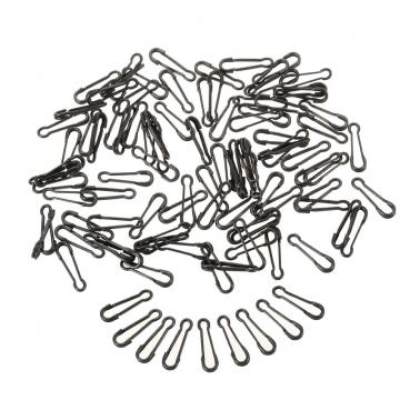 100pcs Fastlock Snap Fishing Safety Snaps Hooked Snap for Carp Rigs Hooks Carp Fishing Accessory Tackle