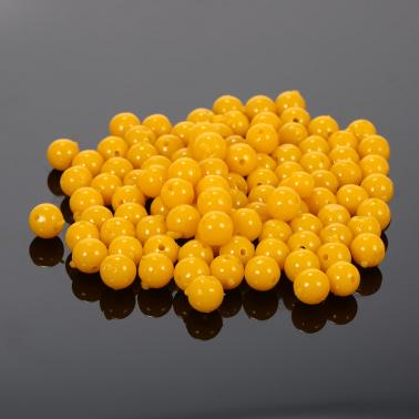100pcs Soft Fishing Lures Semi Floating Smell Ball Bead Feeder Corn Flavour Artificial Bait Fishing Accessories