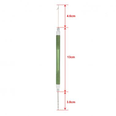 Aluminum Alloy 2 in 1 Carp Coarse Fishing Hair Rig Needle Set Bait Needle Stringer & Driller