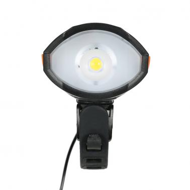 Micro USB Charging 250LM LED 3 Mode MTB Bicycle Bike Cycling Front Light Lamp Torch 2 Modes Bicycle Horns Bell Bike Acce