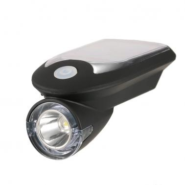 USB Rechargeable Bicycle Headlight  Solar Powered Bicycle Light Bike Cycling Front Light Safety Light Lamp 360 Degree Ro