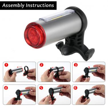 Aluminum USB Rechargeable Bicycle Light Taillight LED Warning Safety Bycicle Cycling Light Bike Rear Light Tail Light La