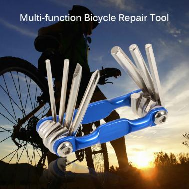 7 in 1 Bike Bicycle Multi-function Repair Tool Kit Hex Wrench Mountain Bicycle Wrench Tools Set Screwdriver Tool