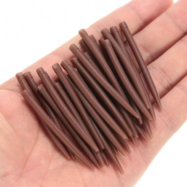30pcs 54mm Anti Tangle Rubber Sleeves Connect with Fishing Hook Carp Coarse Fishing Accessories