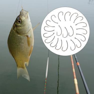 20pcs Fishing Hooks Crank Hook Barbed Fishhooks Fish Hooks High Carbon Steel Barbed Fishing Hook Carp Barbel Tench Coars