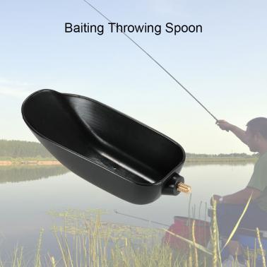 Baiting Throwing Spoon Bait Lure Thrower Boilies Bait Scoop Carp Coarse Fishing Tackle