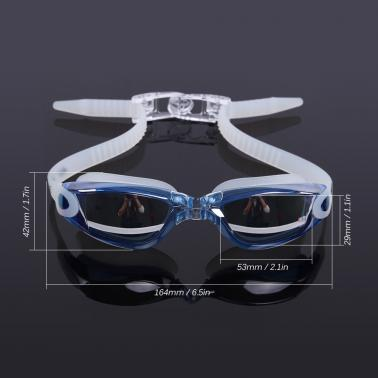 Adult Men's Women's Electroplating Mirrored Coating Anti-fog UV-protection Swimwear Swimming Goggles Sports Swim Goggles