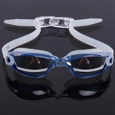 Adult Men's Women's Electroplating Mirrored Coating Anti-fog UV-protection Swimwear Swimming Goggles Sports Swim Goggles