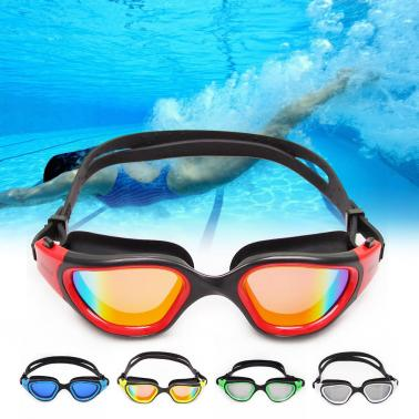 Adult Men's Women's Polarized Anti-fog UV-protection Mirrored Coating Swimwear Swimming Goggles Sports Swim Goggles Eyew