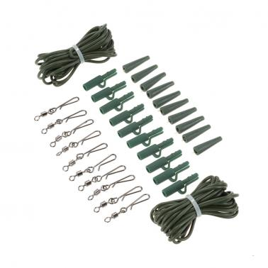 32pc Quick Change Swivels Carp Safety Lead Weights Clips Fishing Tackle Rigs