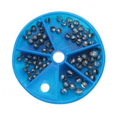 5 Sizes Carp Coarse Removable Split Shot Sinker Kit Pure Lead Sinkers Weights Fishing Tackle Box