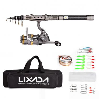 Lixada Telescopic Fishing Rod and Reel Combo Full Kit