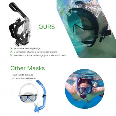 TOMSHOO Adult Male Swimming Diving Snorkel Mask