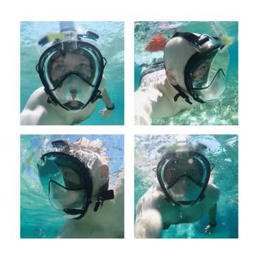 TOMSHOO Adult Male Swimming Diving Snorkel Mask with Action Gopro Mount