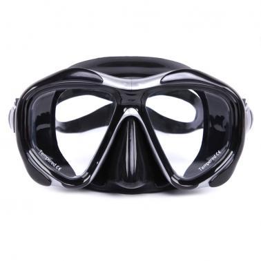 Men's Women's Anti-fog Diving Snorkeling Mask Two-window Scuba Diving Mask Swim Goggles Swimming Mask Tempered Glass Len
