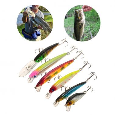43pcs Assorted Size Minnow Fly Fishing Lures Pencil Popper Crankbaits Carp Fishing Wobbler Suspending Artificial Hard Ba