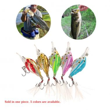 1pcs 7cm/6g Fishing Lure Artificial Bait Fly Fishing Lures Hard Feather Swimbaits