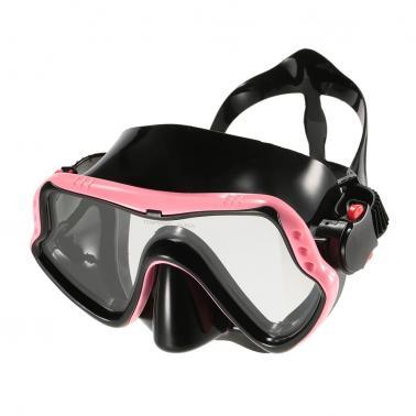 Men's Women's Anti-fog UV400 Protection Single Window Diving Mask Snorkeling Mask Scuba Swimming Mask Goggle Tempered Gl