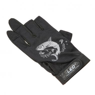 1 Pair 3 Fingerless Fishing Gloves Breathable Quick Drying Anti-slip Fishing Gloves Outdoor Sports Cycling Camping Runni
