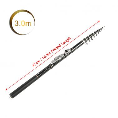 1.8m / 2.1m / 2.4m / 2.7m / 3.0m / 3.6m Portable Telescopic Fishing Rod Carbon Fiber Ultra Light Retractable Fishing Ro