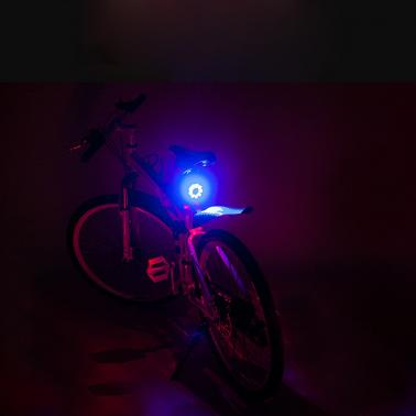 ​Mini Water-resistant 4 Modes Bike Bicycle Scooter Front Lights Taillight LED Rear Light Diamond-shape Light